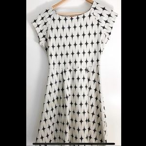 White and black patterned dress